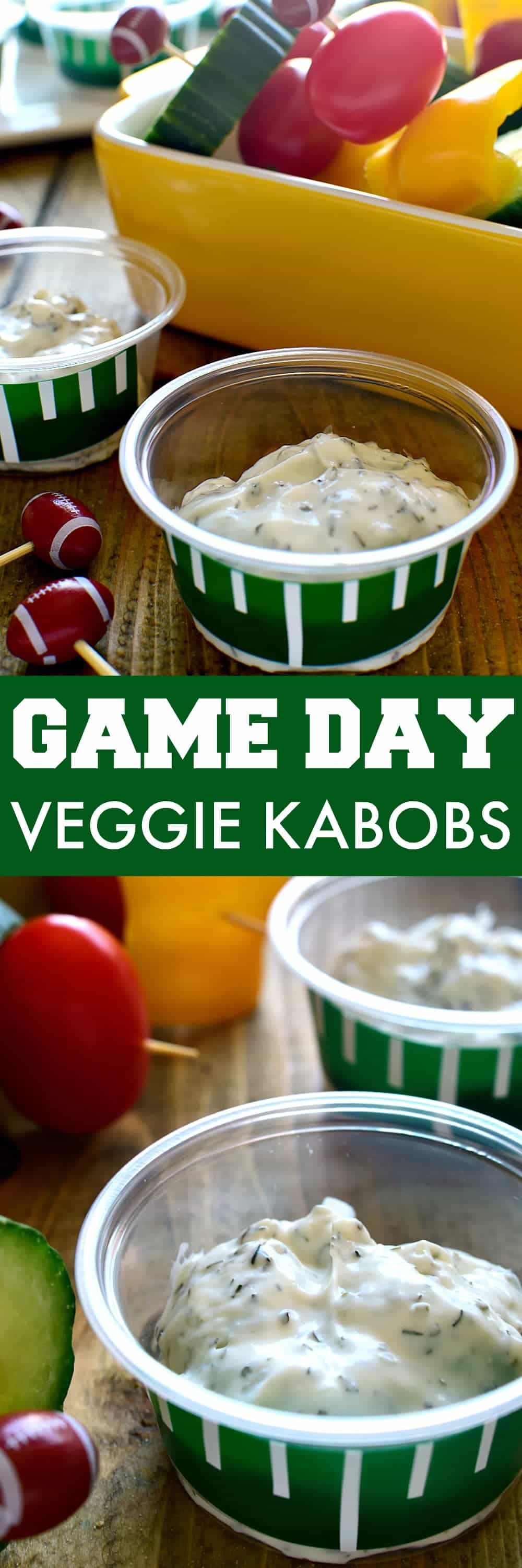 Game Day Veggie Kabobs are so easy to make and perfect for the big game! Quick and simple, this is guaranteed to have everyone eating their veggies!