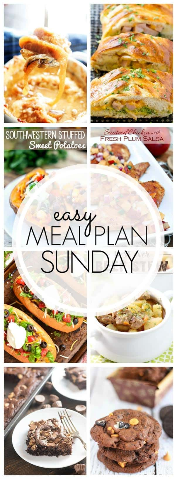 The BEST Weekly Meal Plan! Delicious dinners, decadent desserts, and even breakfast....all guaranteed to make your week easier!