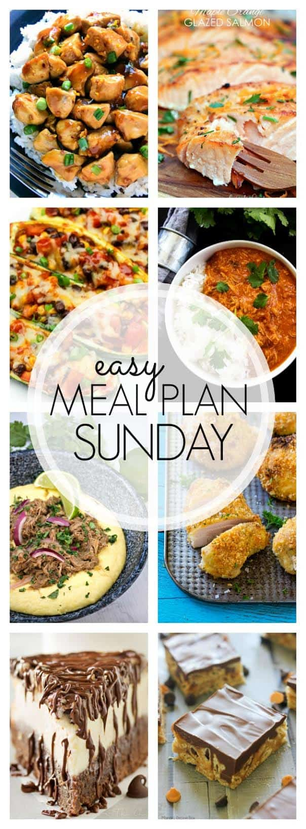 The BEST Easy Meal Plan! 6 dinners, 1 breakfast, and 2 desserts....all tried & true, family tested, and guaranteed to make your week easier!