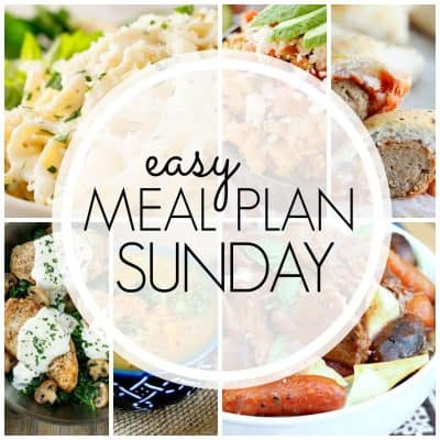Easy Meal Plan! {Week 83}