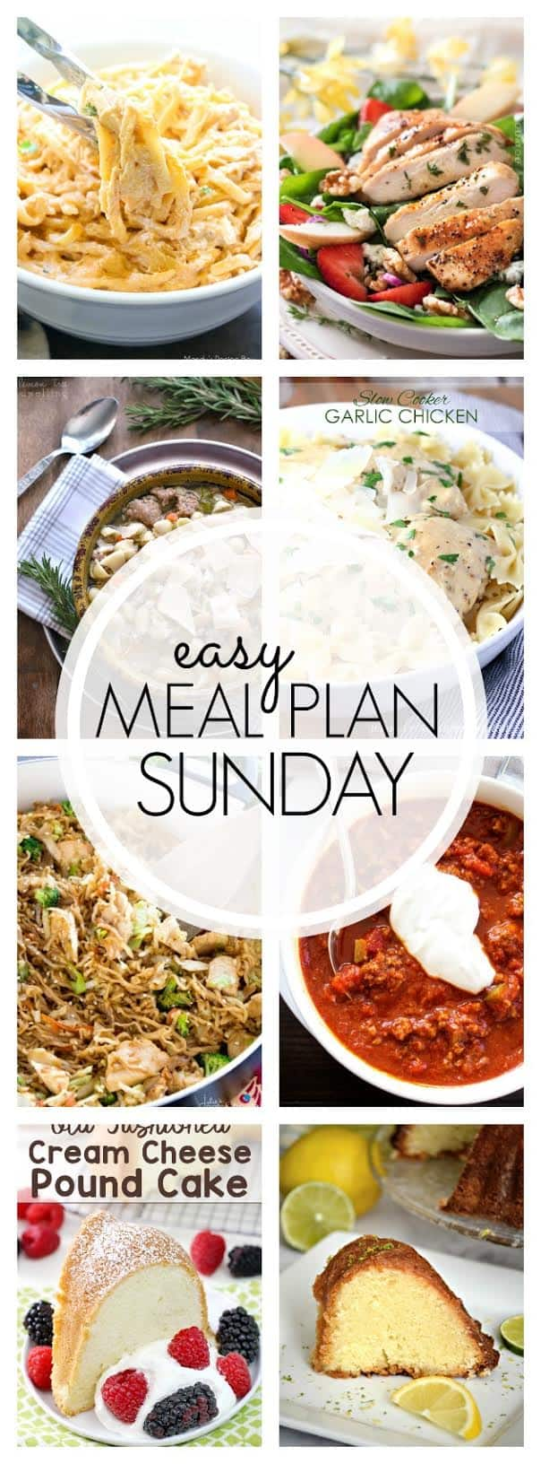 The BEST Easy Meal Plan! Everything you need for a delicious week's worth of meals....all in one place!