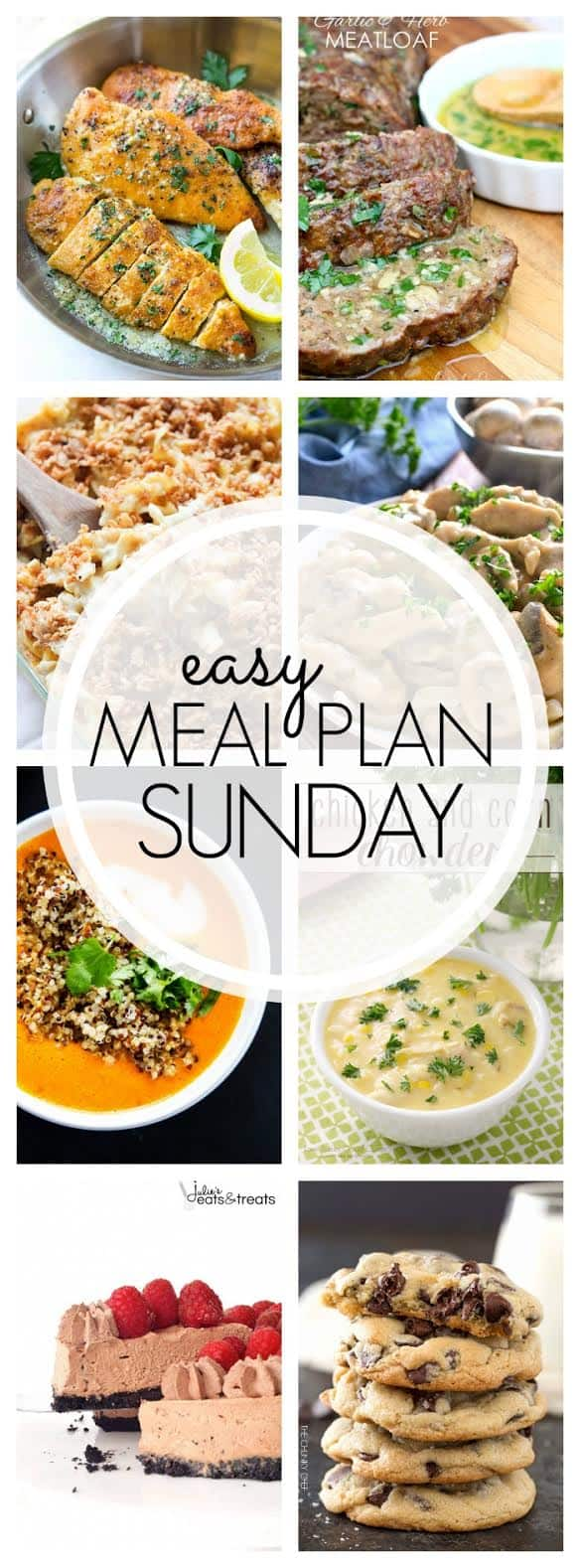 The easiest and BEST weekly meal plan! Everything you need for a full week's worth of meals...all in one place!