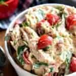 This BLT Chicken Salad combines all the flavors of a BLT tossed in a creamy chicken salad that's sure to become a new family favorite. A match made in sandwich heaven!