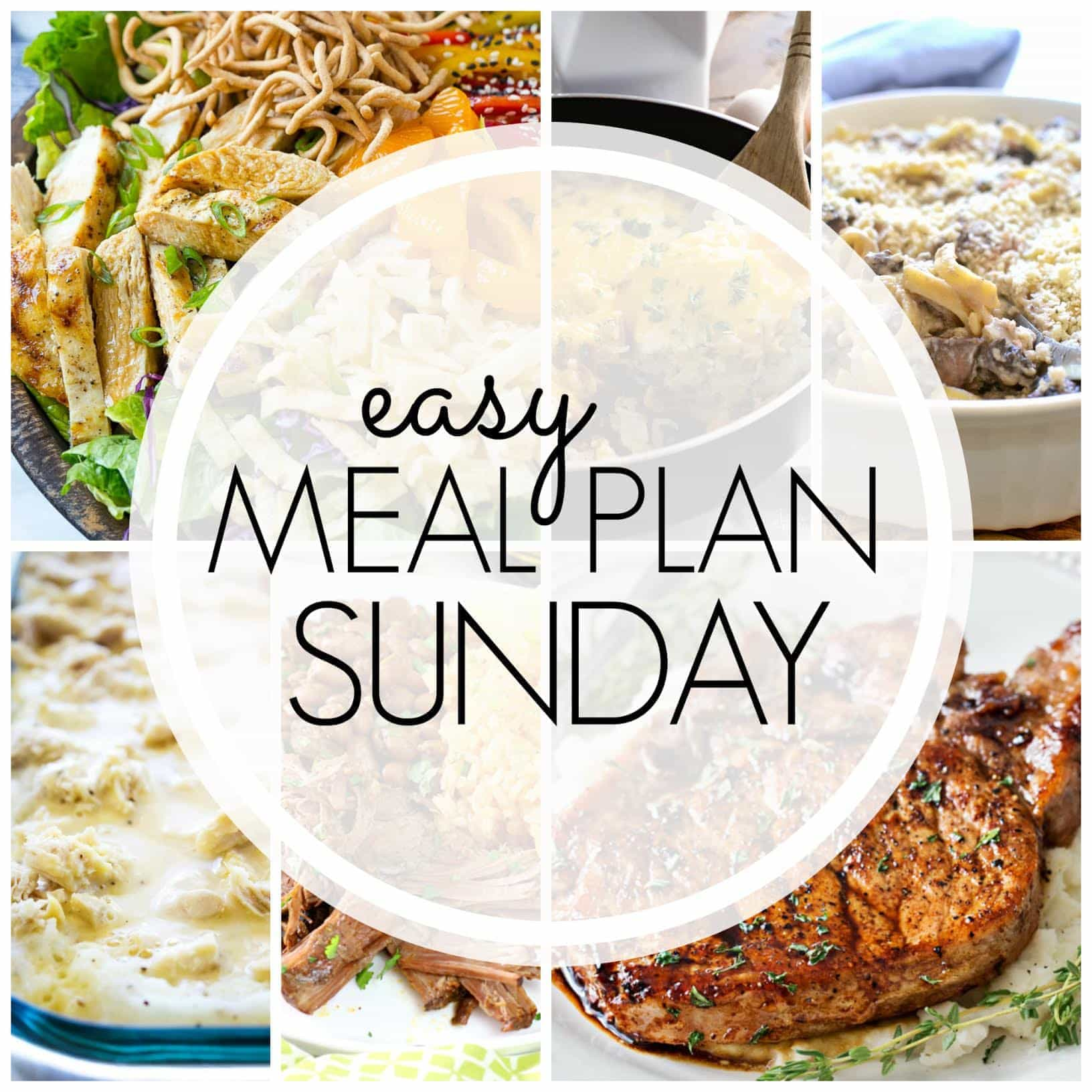 The BEST Easy Meal Plan! Everything you need for a delicious week's worth of meals...all in one place!