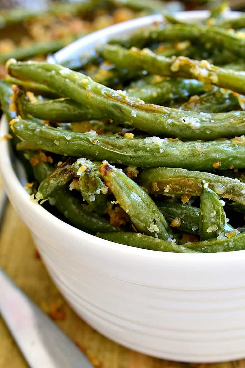 Parmesan Roasted Green Beans | Lemon Tree Dwelling