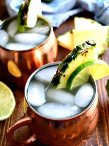 Pineapple Moscow Mules are a delicious, refreshing twist on the original!