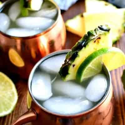 Pineapple Moscow Mules