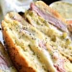 This Honey Mustard Ham and Cheese Sandwich is perfect when paired with a hot soup or crisp salad. A poppyseed infused mustard will elevate this hot sandwich!