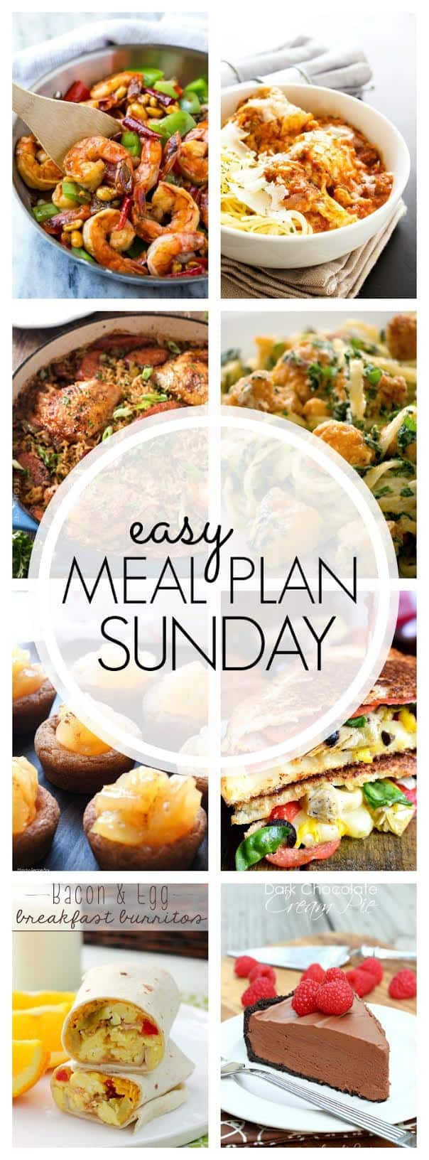 The BEST Weekly Meal Plan! Everything you need for a week's worth of delicious meals...all in one place!