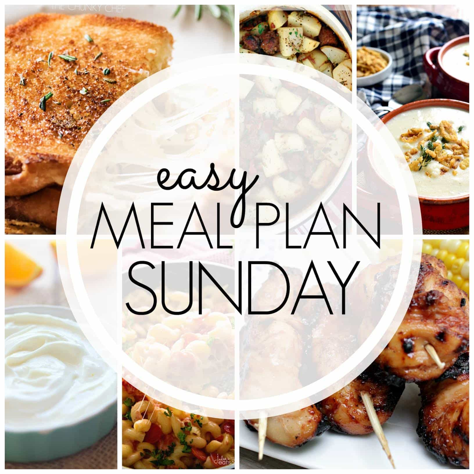 The BEST Easy Meal Plan! Everything you need for a delicious week's worth of meals...made easy!