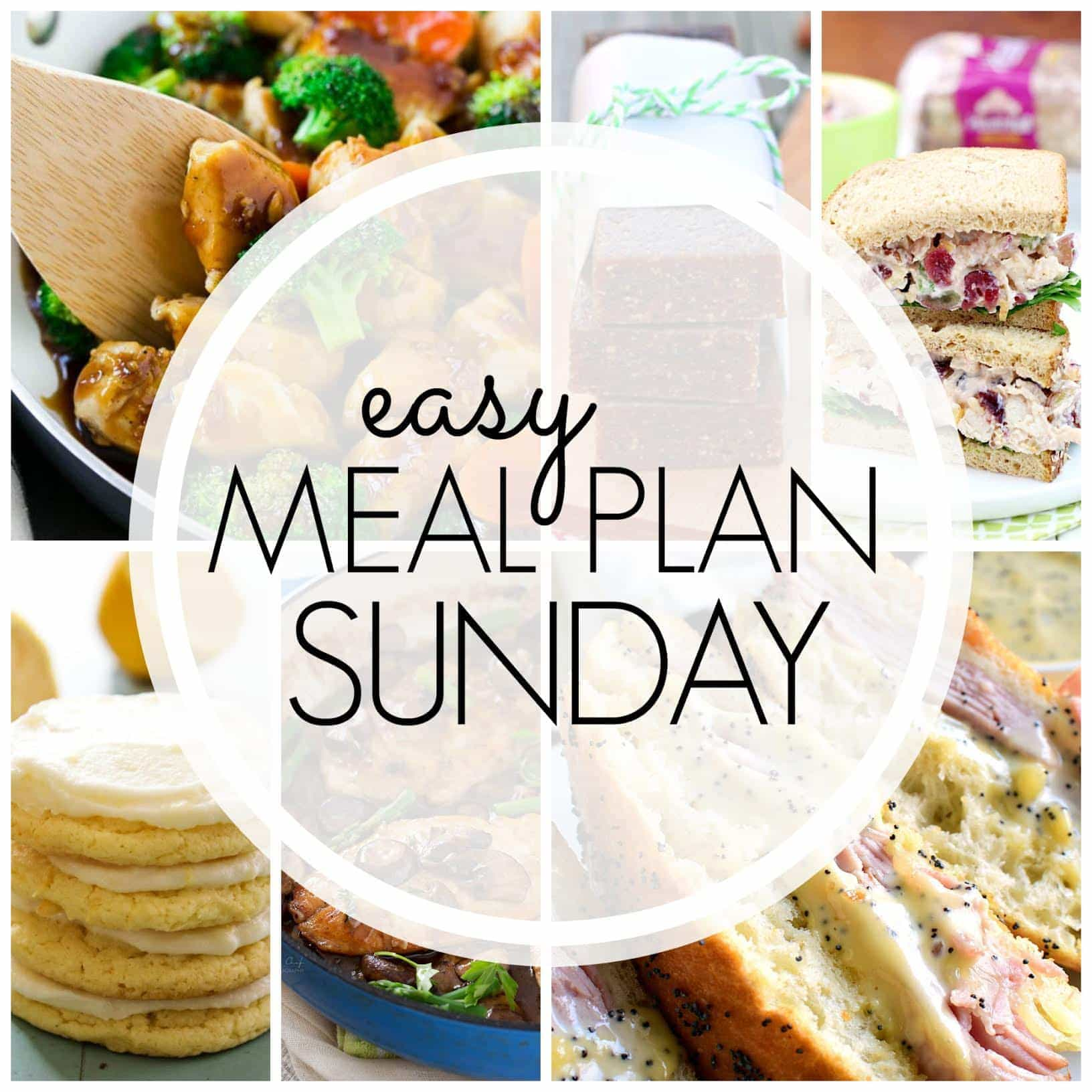 The BEST Easy Meal Plan, filled with delicious dinner recipes that are guaranteed to make your week feel EASY!