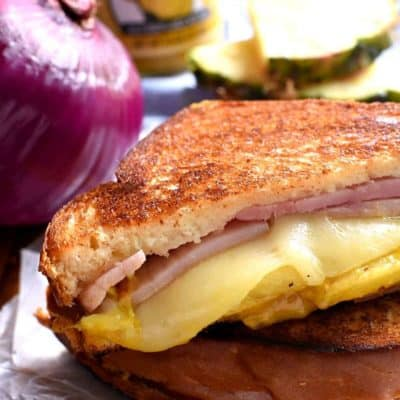 Hawaiian Ham Grilled Cheese Sandwich