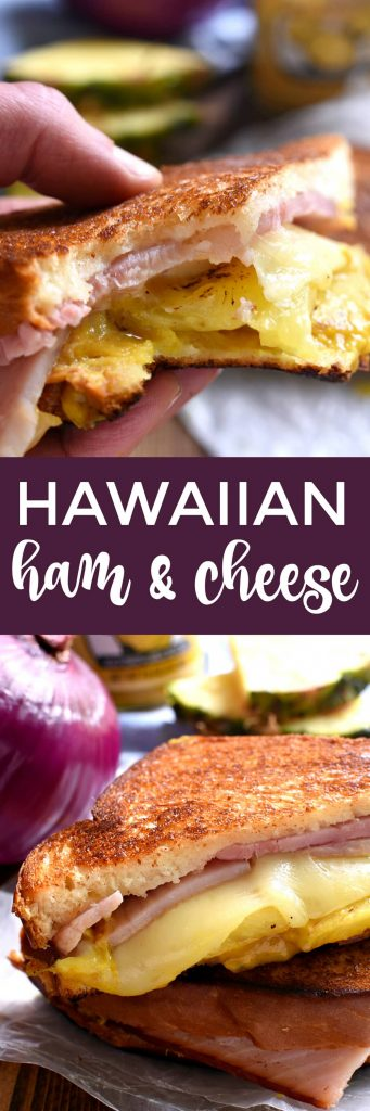titled photo collage - Hawaiian Ham & Cheese Sandwiches
