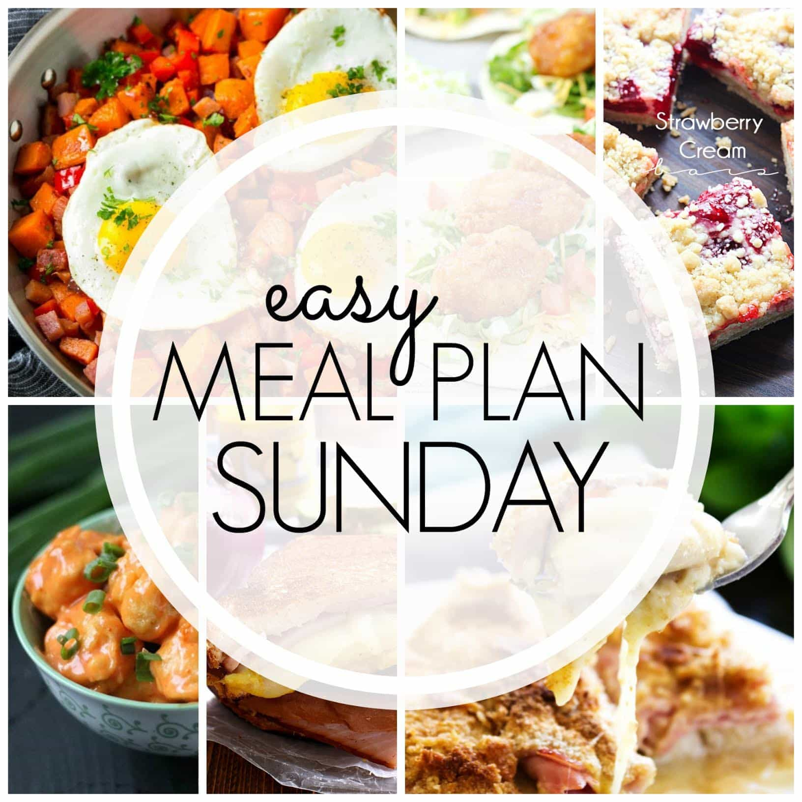 The BEST weekly meal plan....filled with easy, family friendly recipes from your favorite bloggers!