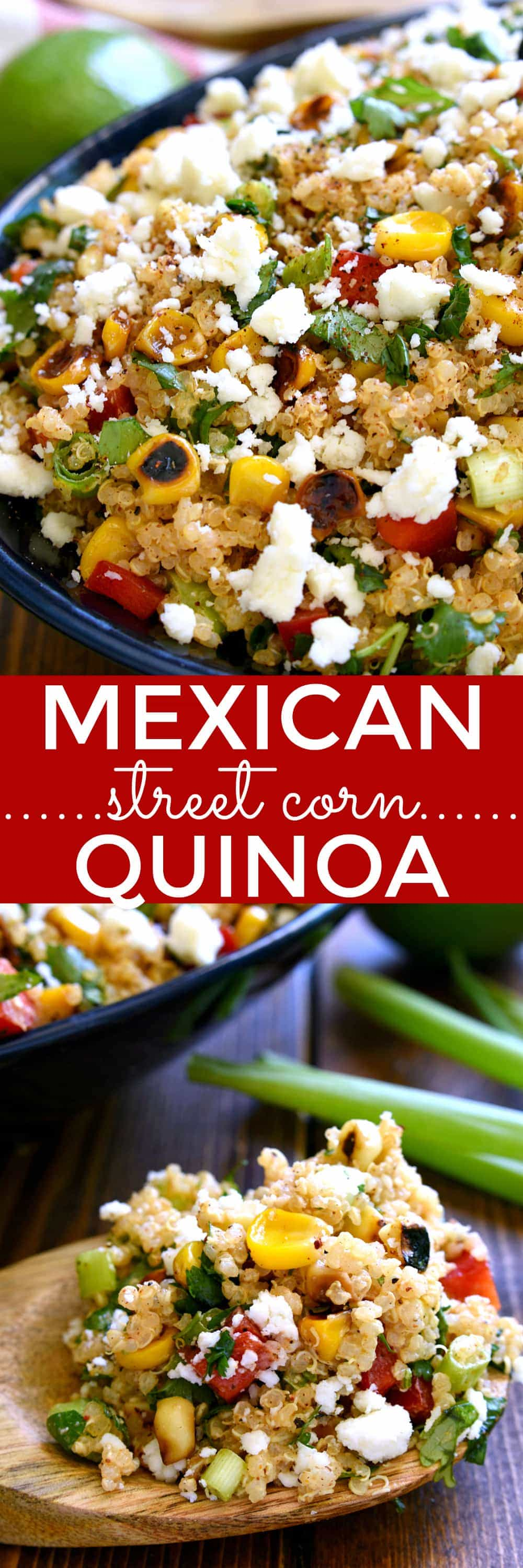 Looking to mix up your salad routine? This Mexican Street Corn Quinoa is for you! Loaded with all the delicious flavors of Mexican Street Corn, this quinoa salad is fresh, flavorful, and perfect for summer!