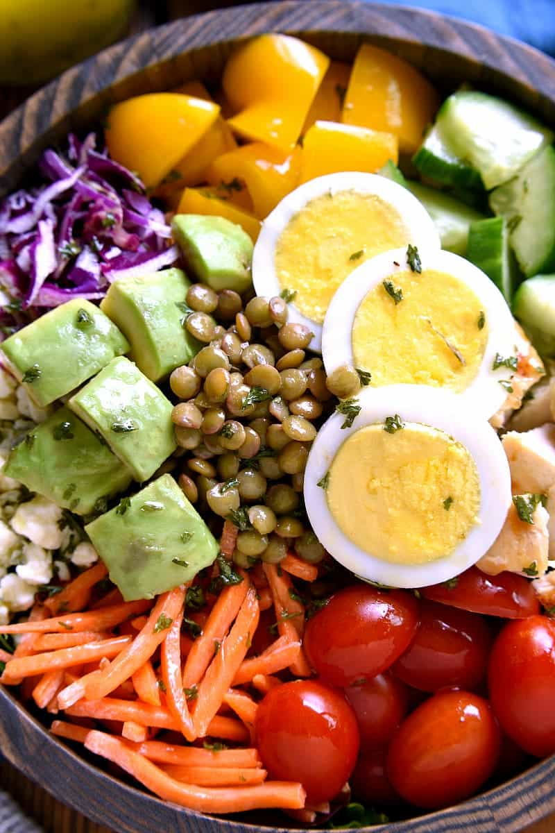 overhead image of a Protein Power Salad