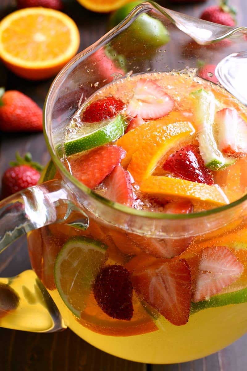 pitcher of Skinny Sparkling Sangria