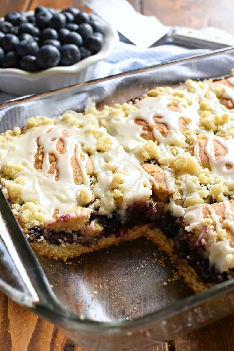 These Blueberry Pie Bars are the perfect summer treat! They're easy, delicious, and great for sharing...the ideal dessert for summer picnics, holidays, and parties! Sure to be a hit!