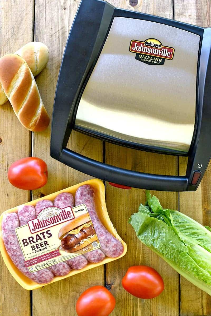 These Cheddar Ranch BLT Brats combine all the best flavors in one delicious sandwich! Perfect for Father's Day, game day, or any day....this sandwich is packed with favor and SO easy to make!