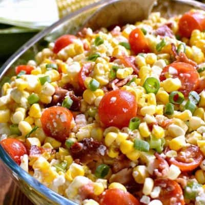 Bacon Blue Cheese Corn Salad