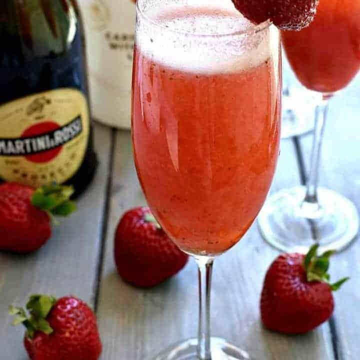 Strawberry Coconut Bellini