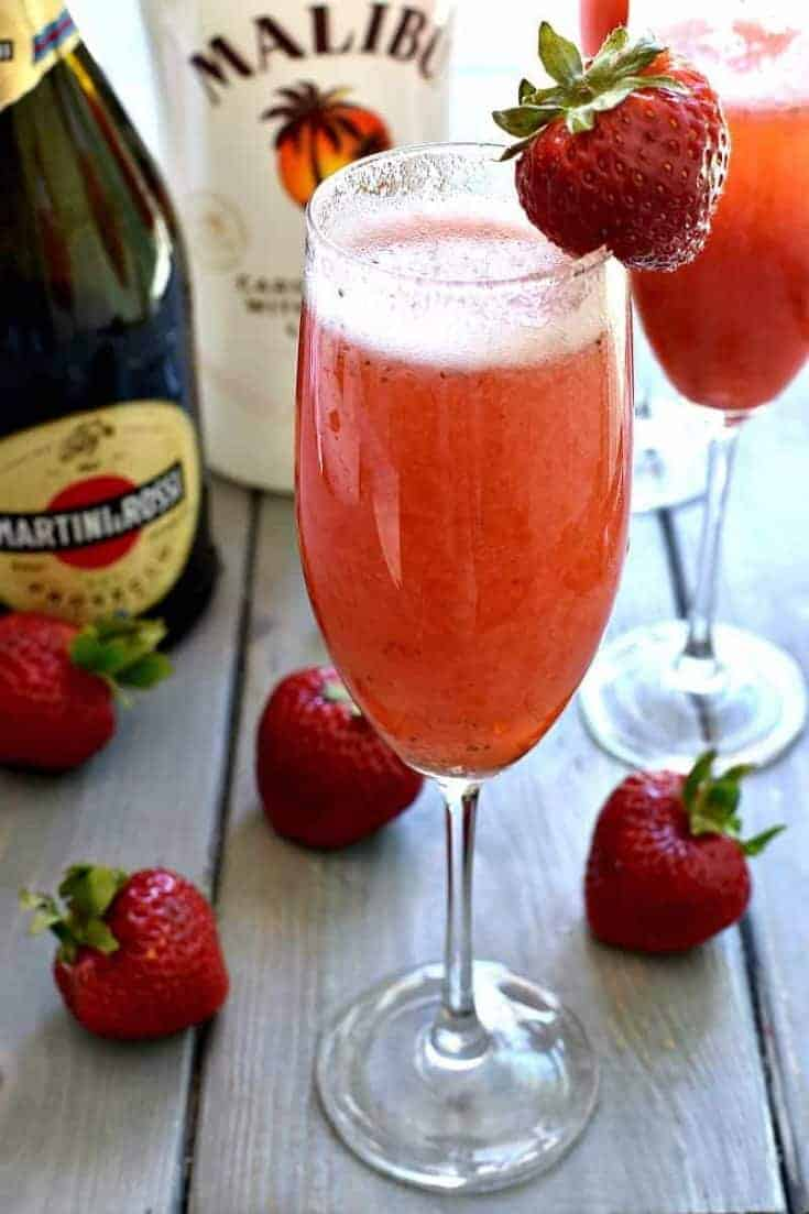 Strawberry Coconut Bellini