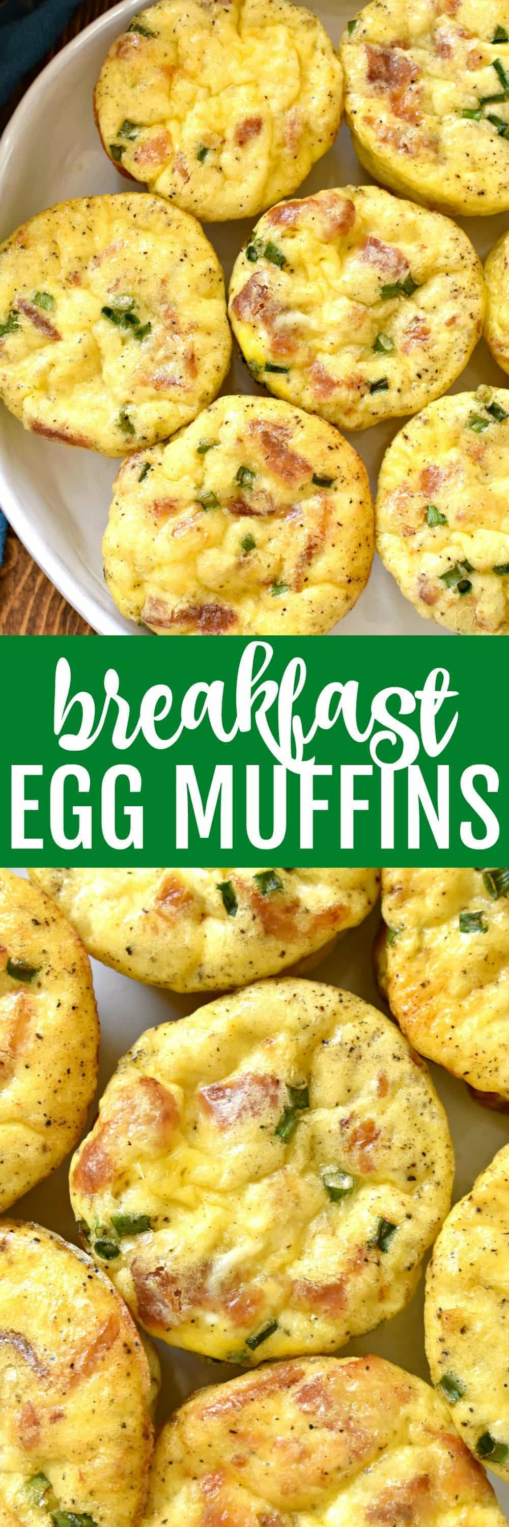 Collage image of Breakfast Egg Muffins