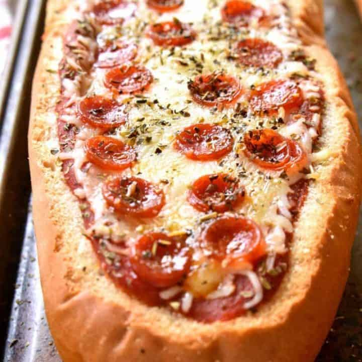Stuffed Pepperoni Pizza Bread