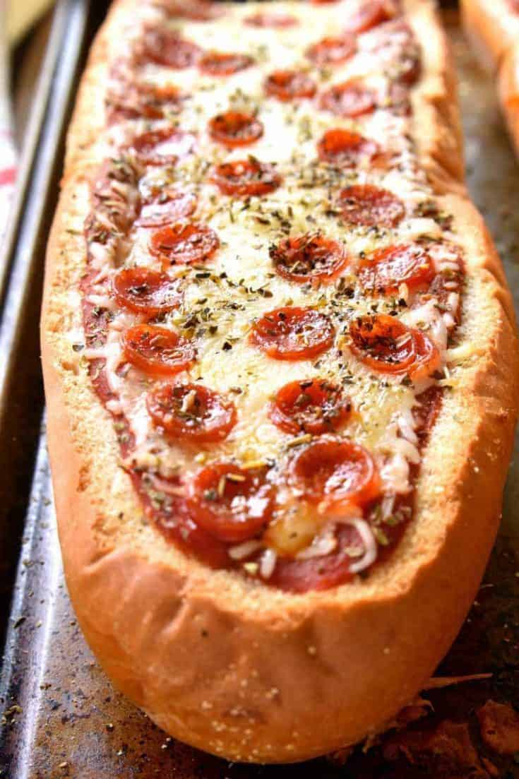 Stuffed Pepperoni Pizza Bread Lemon Tree Dwelling