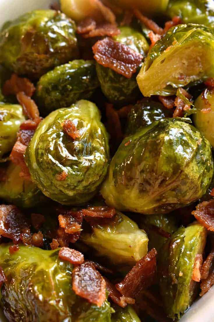 Maple Bacon Roasted Brussels Sprouts Lemon Tree Dwelling