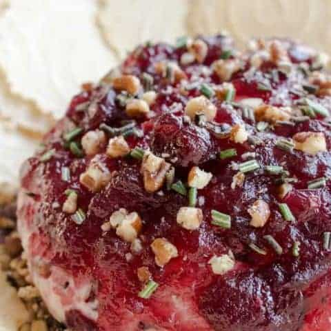 Cranberry Pecan Baked Goat Cheese