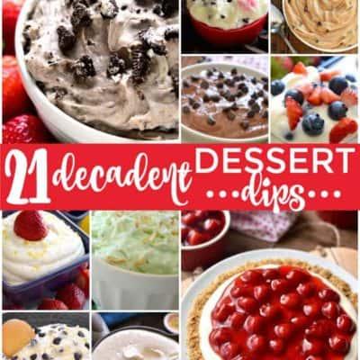 21 Decadent Dessert Dips