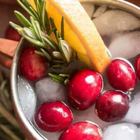 Holiday Cranberry Mules