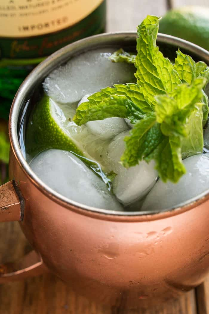 If you love Moscow Mules, you'll love this delicious Irish Mule twist! Made with Irish whiskey, ginger beer, lime juice, and muddled mint, this cocktail has everything you need to get you through the cold days of winter. They come together quickly, with just a few ingredients, and can be made individually or by the pitcherful. Which means they're perfect for game days, St. Patrick's Day, or weekends with friends! Any way you mix it, the Irish Mule is sure to become a new favorite for whiskey lovers everywhere!