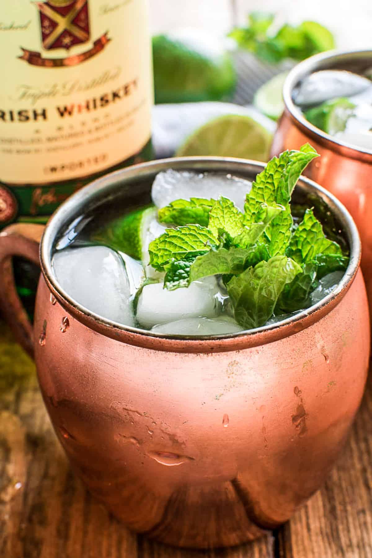Irish Mule in copper mug with fresh mint