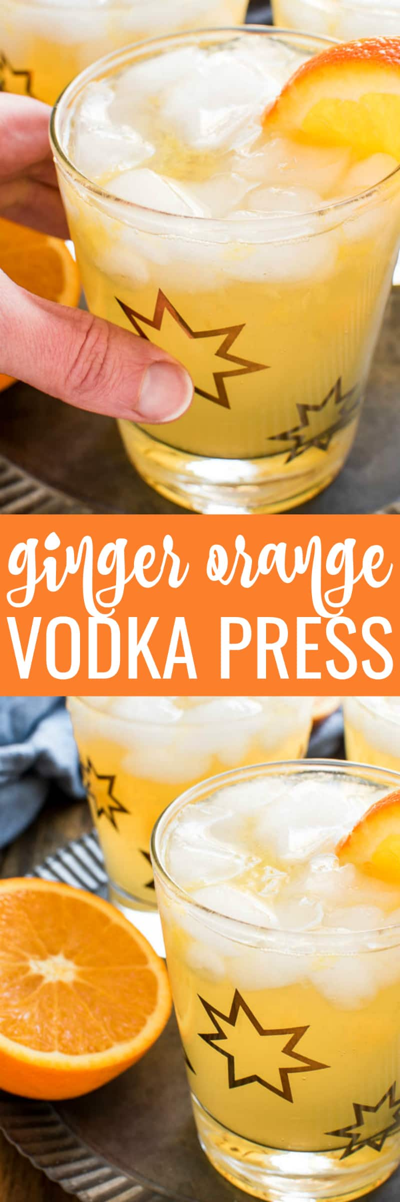 Looking for a delicious new winter cocktail? Look no further...this Ginger Orange Vodka Press is it! Made with just 4 ingredients and so easy to prepare, this drink has the perfect blend of flavors with just the right amount of sweetness. Ideal for happy hour, ladies' night, or even brunch, this cocktail is a great alternative to sugary drinks and can easily be adjusted to suit your tastes. And since oranges are a favorite any time of year, this Ginger Orange Vodka Press is sure to become a new favorite for winter, summer, and all year round!