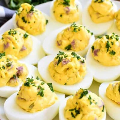 Ham and Cheese Deviled Eggs