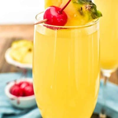 Pineapple Upside Down Mimosas