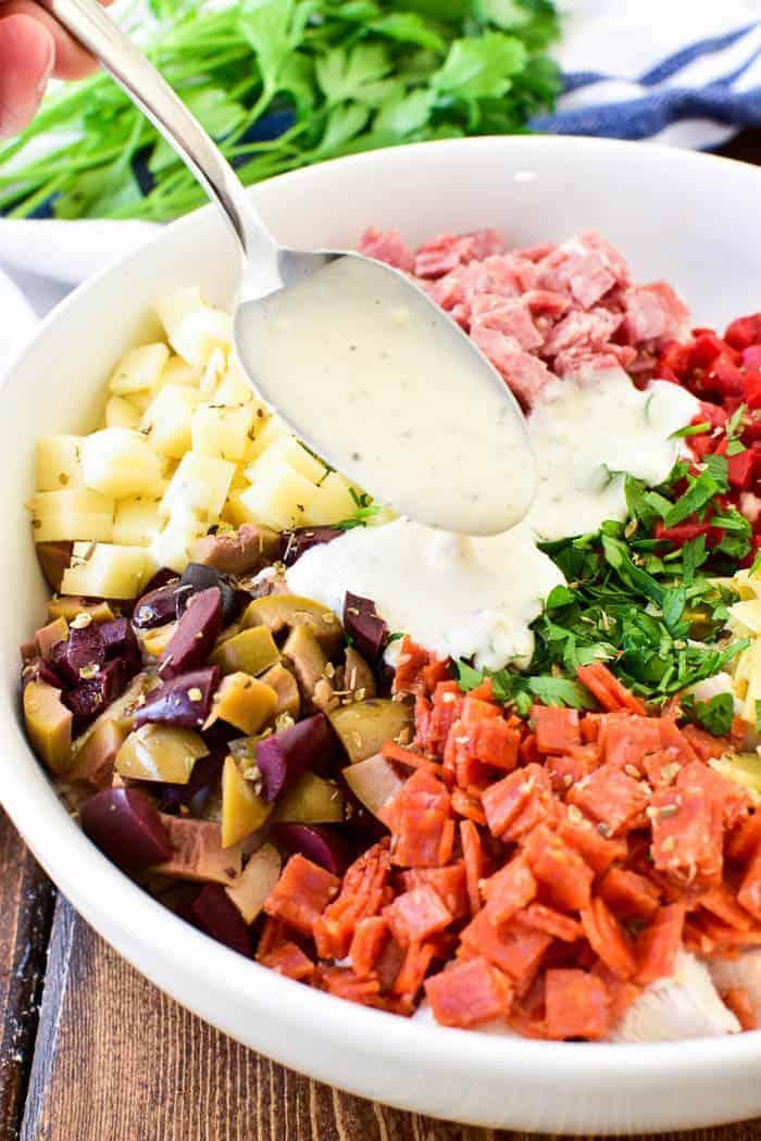 Antipasto Chicken Salad
