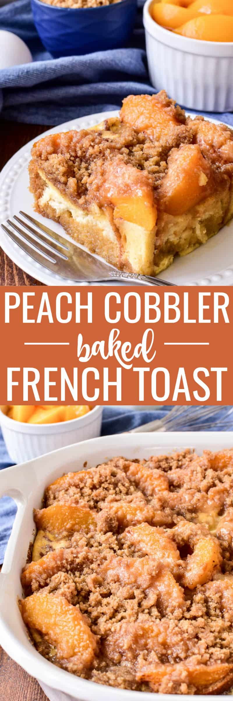 Peach Cobbler Baked French Toast is one of our family's go-to breakfast recipes. It has all the flavors of peach cobbler in a delicious overnight French toast casserole that's perfect for weekends or special occasions. This recipe is easy to prepare and oven-ready in the morning. Take the stress out of breakfast with this delicious twist on a classic....guaranteed to become a favorite!