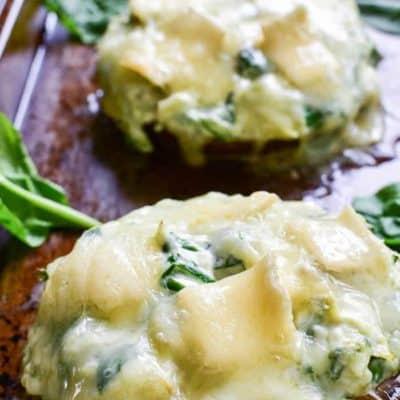 Spinach Artichoke Stuffed Portobellos