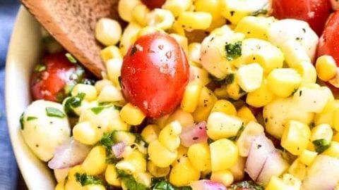 Corn Salad Recipe With Mozzarella Cheese