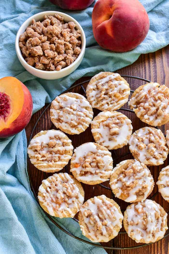 Peach Cobbler Cookie Cups