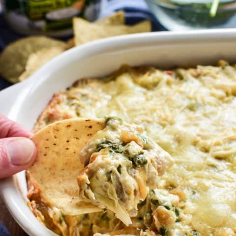 French Onion Spinach Artichoke Dip