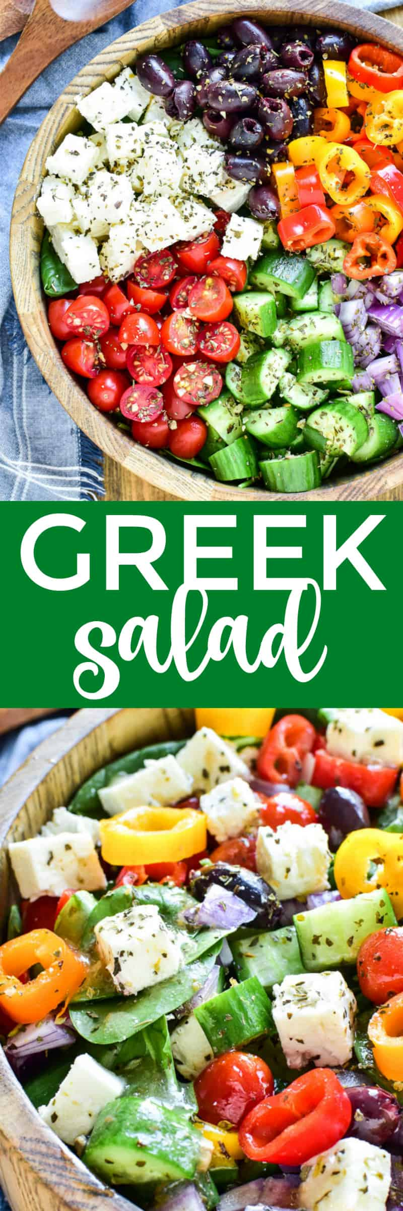 Collage image of Greek Salad
