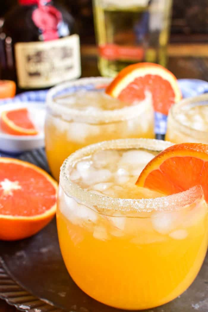 Close up of Orange Margaritas