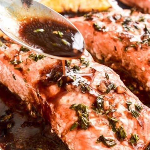 Balsamic Orange Glazed Salmon