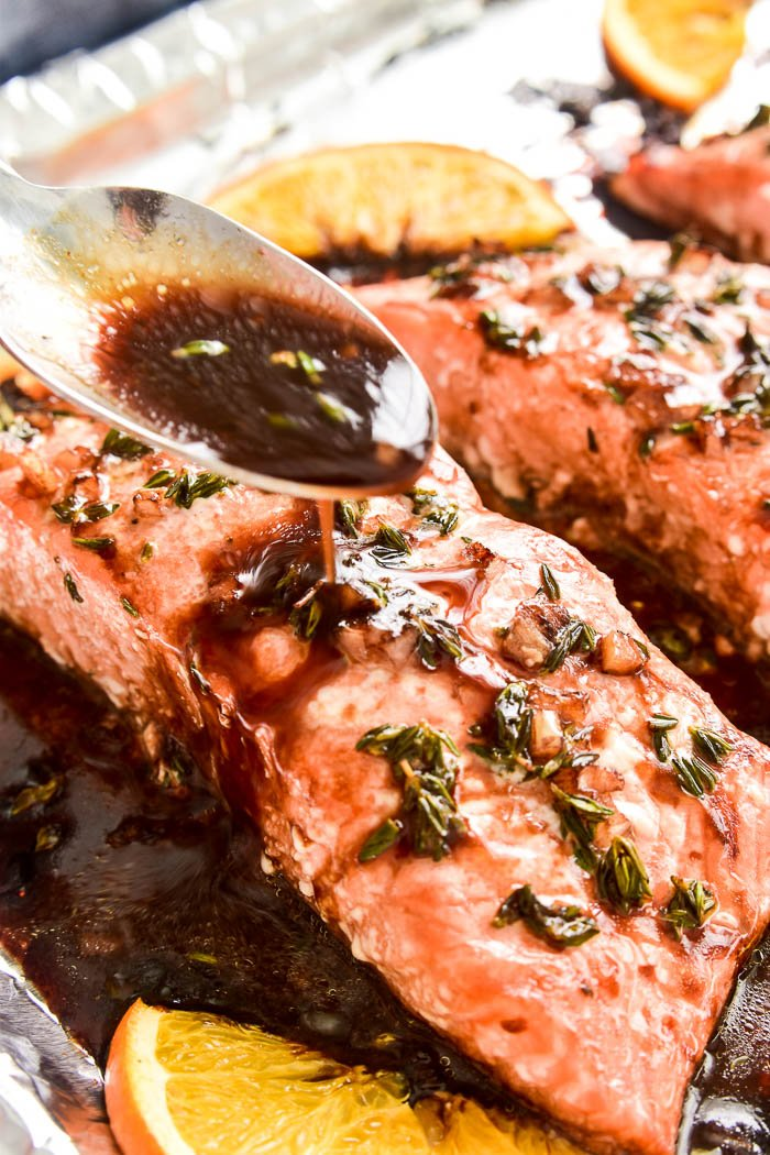 Balsamic Orange Glazed Salmon