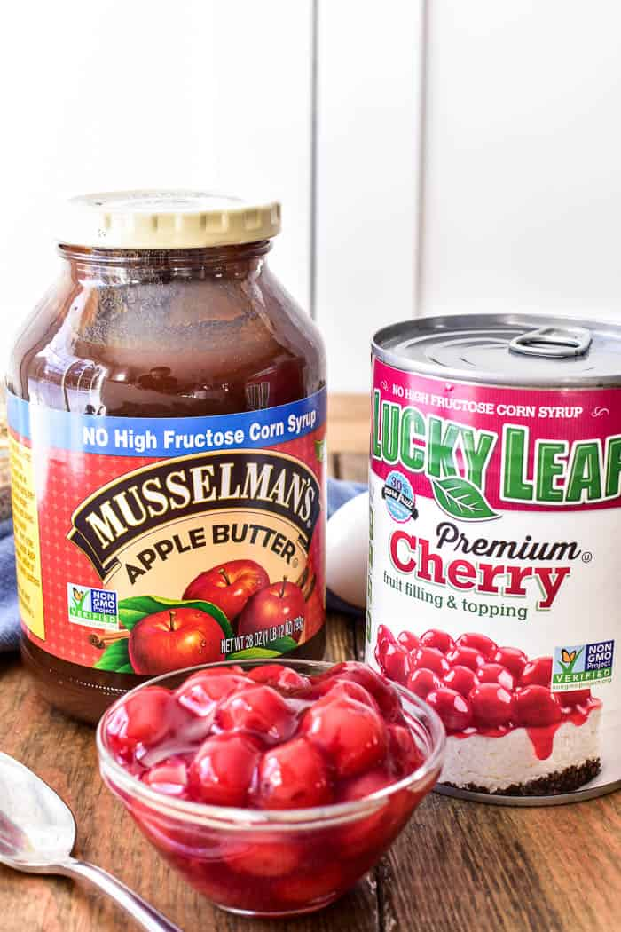 Musselman's Apple Butter & Lucky Leaf Cherry Pie Filling product shot