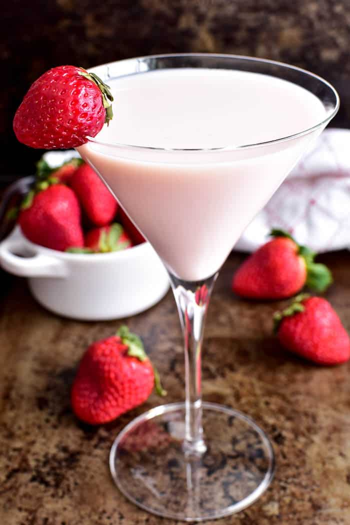 Close up of Strawberry Shortcake Martini